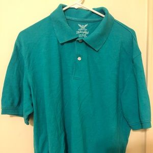 Turquoise polo shirt
